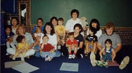group with mothers and children